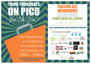 third thursdays pico food trucks los angeles