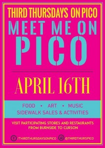 third thursdays on pico mid city los angeles food trucks artwalk shopping sales ladies night out picfair village
