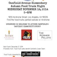 los angeles food trucks lausd book fair fundraiser