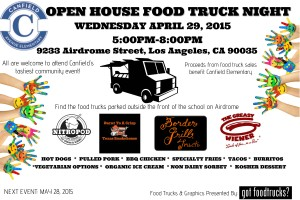 los angeles food trucks fundraising schools open house