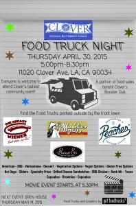 los angeles best food trucks fundraiser lausd clover avenue elementary school