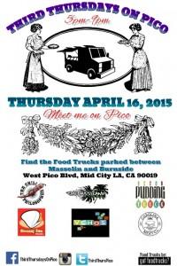 third thursdays on pico artalk food trucks los angeles mid city los angeles great streets of los angeles food trucks