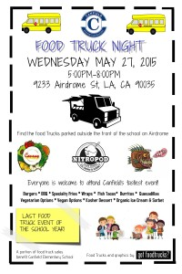 best food trucks in los angeles, school fundraiser, lausd, canfield elementary school, food truck events