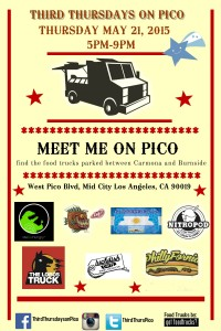 LOS ANGELES BEST FOOD TRUCKS THIRD THURDAYS ON PICO FOOD TRUCK EVENTS ART WALK LADIES NIGHT OUT SHOPPING MEMORIAL DAY WEEKEND SALES
