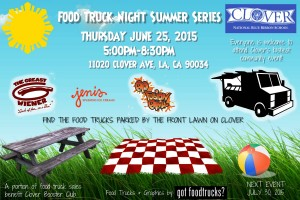 los angeles food trucks best clover avenue elementary school lausd fundraiser summer solstice