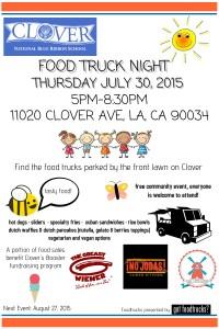 best food trucks los angeles summer events clover avenue elementary school fundraiser lausd summer
