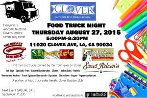 los angeles best food trucks, clover avenue elementary school, west los angeles, mar vista, free summer events, fundraiser, lausd, fundraising, food truck night
