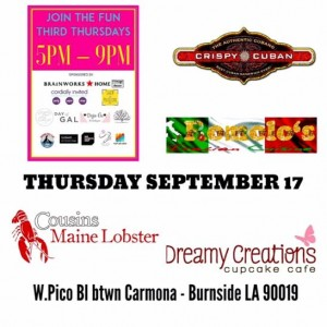 third thursdays on pico mid city los angeles great streets los angeles food trucks art walk ladies night out