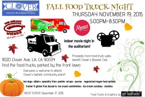 los angeles food trucks movie night fall events holiday events mar vista venice west los angeles