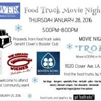 clover avenue elementary school los angeles food truck movie night frozen best food truck fundraising free events