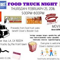 clover elementary west los angeles food truck night movie night fundraiser mar vista palms
