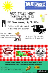 los angeles food trucks movie night spring earth day clover elementary fundraiser mar vista west los angeles