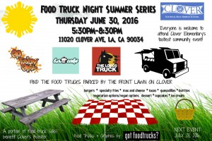 los angeles food trucks summer solstice clover elementary fundraiser free events