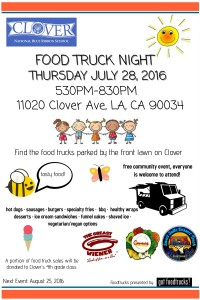los angeles food trucks west los angeles free events food truck night clover avenue elementary free summer events