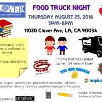 clover avenue elementary food trucks los angeles fundraiser lausd summer back to school mar vista west los angeles palms venice