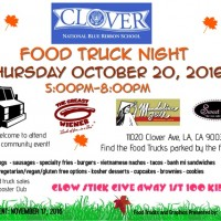 clover avenue elementary food truck night west los angeles mar vista palms venice free event glowstick party fall halloween