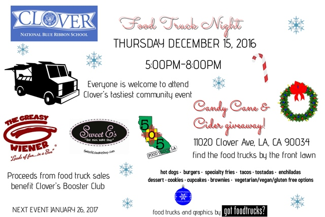 clover avenue elementary los angeles food trucks free holiday events west los anglees