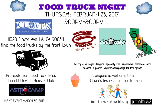 clover avenue elementary food trucks los angeles fundraiser winter movie ngiht