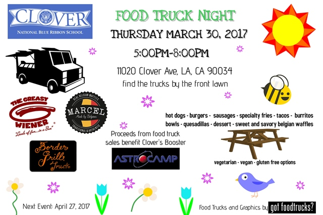 los angeles food truck clover avenue elementary fundraiser family free things to do west los angeles