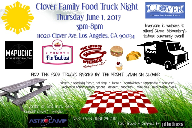 clover avenue elementary family food truck night west los angeles summer