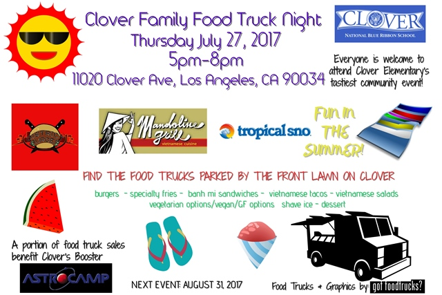 los angeles food trucks summer free events clover avenue elementary west los angeles family events